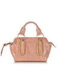 See By Chloe Paige Small Glazed Leather Handbag Misty Rose
