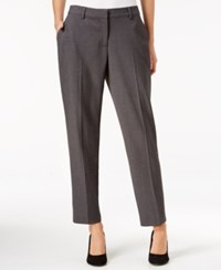 Kensie Crepe Ankle Pants Heather Dark Grey