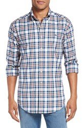 Vineyard Vines Men's 'Naushon' Slim Fit Plaid Sport Shirt Bahama Breeze