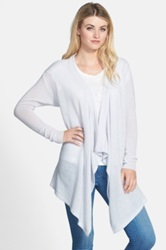 Nordstrom Cascade Waterfall Cashmere Cardigan Gray