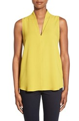 Women's Pleione Layered V Neck Sleeveless Blouse Olive Oil