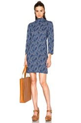 A.P.C. Lydie Dress In Mosaic And Paisley Blue