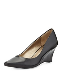 Circa Joan And David Deacon Pointed Toe Wedge Pump Black