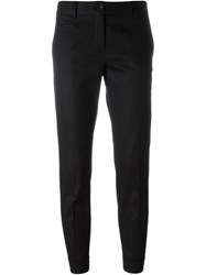 Alberto Biani Cropped Tailored Trousers Black
