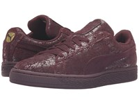 Puma Suede Remaster Winetasting Winetasting Women's Basketball Shoes Brown