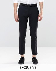 Only And Sons Skinny Suit Trousers With Stretch Black