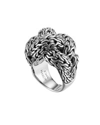 Classic Chain Silver Braided Ring Large John Hardy