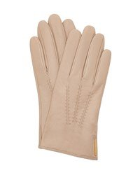 Ted Baker Hollis Metallic Bar Leather Gloves Camel