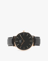 Daniel Wellington Classic Black Sheffield In Rose Gold Rose Gold Black