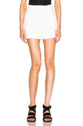 Veronica Beard Tropicana Tailored Shorts In White