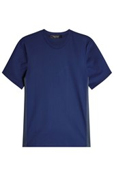 Calvin Klein Collection T Shirt With Mesh Blue