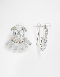 New Look Crystal Through And Through Earrings Silver