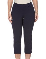 Rafaella Petites Petite Power Stretch Skinny Capri Leggings Navy