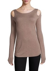 Bailey 44 Cruising Cold Shoulder Sweater Camel