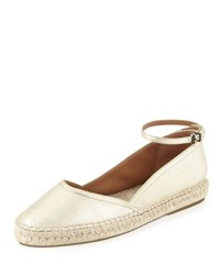 Giorgio Armani Metallic Leather D'orsay Espadrille Gold
