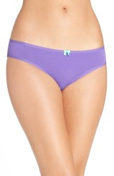 Betsey Johnson Women's Hipster Bikini Briefs Purple Passion