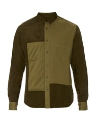 Yohji Yamamoto Multi Panel Long Sleeved Shirt Khaki