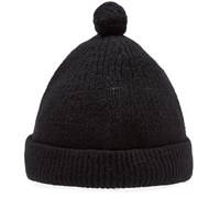 Nigel Cabourn Solid Pom Pom Hat Black