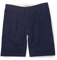 Oliver Spencer Linen And Cotton Blend Shorts Blue