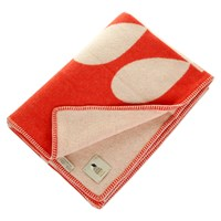Orla Kiely Giant Stem Apricot Throw Cream Red