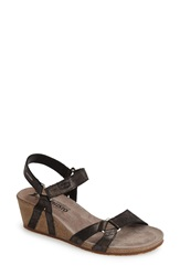 Mephisto 'Muguet' Quarter Strap Wedge Sandal Women Black Fashion