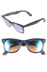 Women's Ray Ban 'Classic Wayfarer' 50Mm Sunglasses Blue Grey