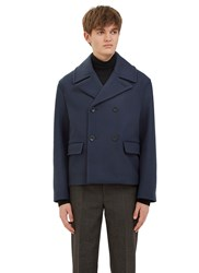 Acne Studios Merge Wool Jacket Blue