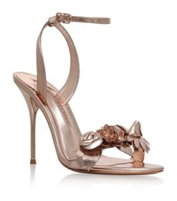 Sophia Webster Lilico Metallic Floral Sandals Female Bronze