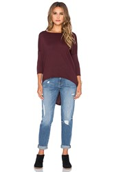 Bobi Light Weight Jersey 3 4 Sleeve Dolman Wine