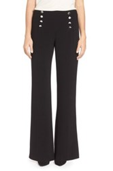 Vince Camuto High Waist Flare Leg Sailor Pants Petite Black