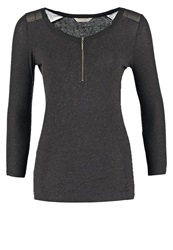 Naf Naf Onoa Long Sleeved Top After Dark Dark Gray