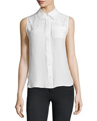 Frame Denim Le Sleeveless Button Front Top Blanc Women's Size M