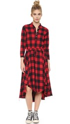 Nsf Caleb Dress Red Black