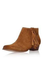 Sassy Tan Low Heel Ankle Boot By Kurt Geiger