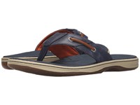 Sperry Baitfish Thong Navy Tan Men's Sandals Blue