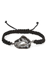 Dara Ettinger Braided Cord And Stone Bracelet Black