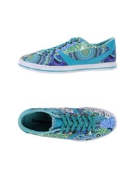 Desigual Low Tops And Trainers Deep Jade