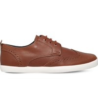 Camper Jim Leather Shoes Mid Brown