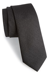 Men's Calibrate 'Sunset' Solid Silk Tie Black