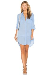 Seafolly Long Line Resort Shirt Blue
