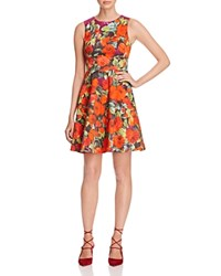 Karen Millen Archive Rose Print Fit And Flare Dress 100 Bloomingdale's Exclusive Multicolor