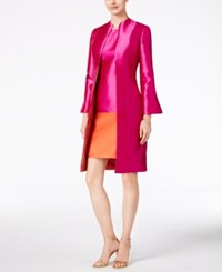 B Michael Bell Sleeve Topper Evening Jacket Fuchsia Salmon