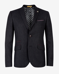 Ted Baker Cersee Wool Blend Casual Blazer Navy