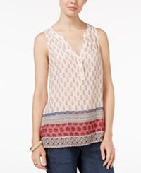 Sanctuary Mori Sleeveless Mixed Print Top Filigree Patchwork