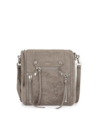 Botkier Logan Zipper Detail Messenger Bag Soft Gray