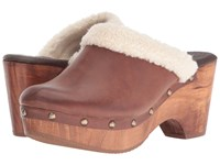 Cordani Zorba 2 Brown Brushed Leather Fur Women's Clog Shoes