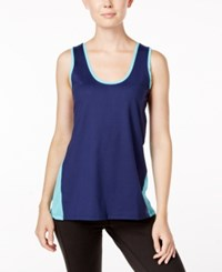 Gaiam Fallon Colorblocked Tank Top Midnight Blue