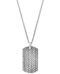Effy Collection Gento By Effy Men's Dog Tag Pendant Necklace In Sterling Silver