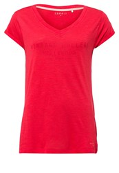 Esprit Sports Print Tshirt Coral Red