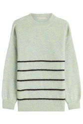 Marco De Vincenzo Pullover With Wool Angora And Mohair Green